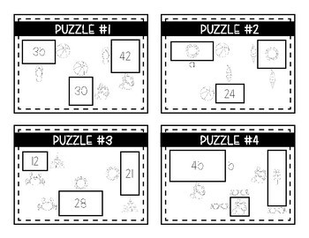 End of the Year Logic Puzzles- Area, Perimeter and Multiplication