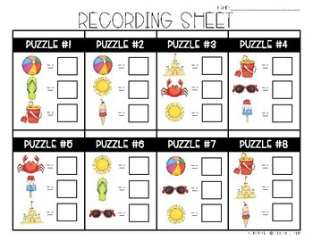 End of the Year Math Logic Puzzles- Area, Perimeter and Multiplication