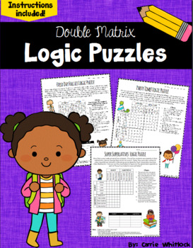End of the Year Logic Puzzles -  Double Matrix