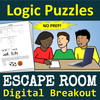 End of the Year: Logic Puzzles Escape Room - Digital Breakout - NO PREP!