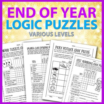End of the Year Logic Puzzles, Various Levels