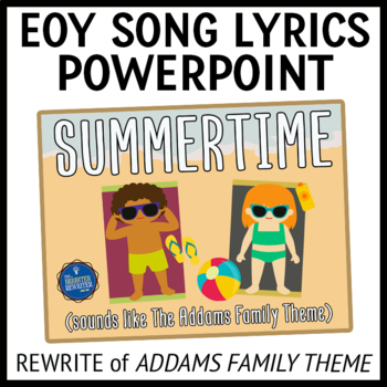 End of the Year Song Lyrics PPT