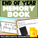 End of the Year MEMORY BOOK Social Emotional Writing Promp