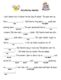 End of the Year Mad Libs