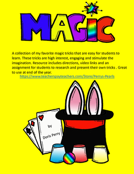 End of the Year Magic Tricks