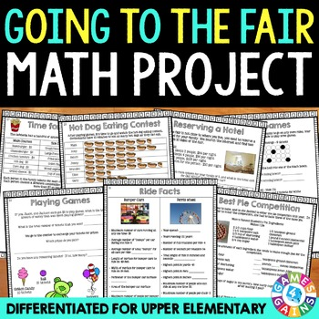 Upper Elementary Math Project {Going to the Fair Summer Packet}