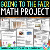 Trip to the Fair Math Project {DIFFERENTIATED} Real World Math Problems