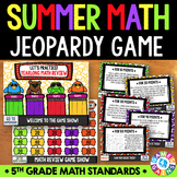 End of the Year Math Jeopardy {5th Grade Math Review}