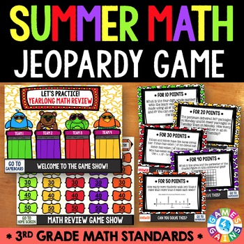 End of the Year Math Jeopardy {3rd Grade Math Review}