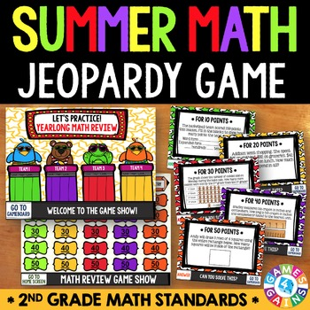 End of the Year Math Jeopardy {2nd Grade Math Review}