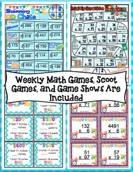End of the Year Math: 5 Week Countdown (4th Grade) Bundle