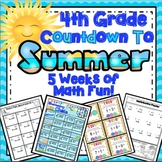 4th Grade End of the Year Math: 5 Week Math Review Countdown (4th Grade) Bundle