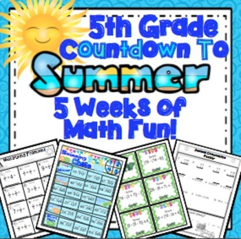 End of the Year Math: 5 Week Countdown (5th Grade)