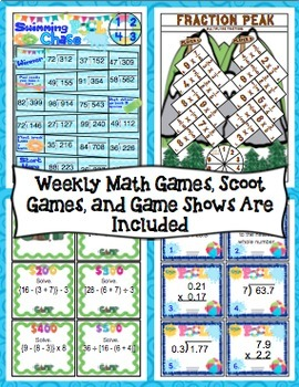 End of the Year Math: 5 Week Countdown (5th Grade) Bundle