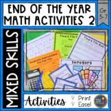End of the Year Math Activities 2