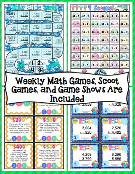 End of the Year Math:  Addition and Subtraction Review (3rd Grade)
