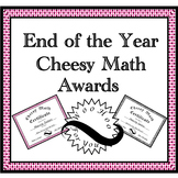 End of Year Math Awards for Middle School