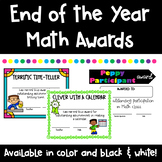 End of the Year Math Awards for Every Student!