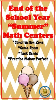 End of the Year Math Centers