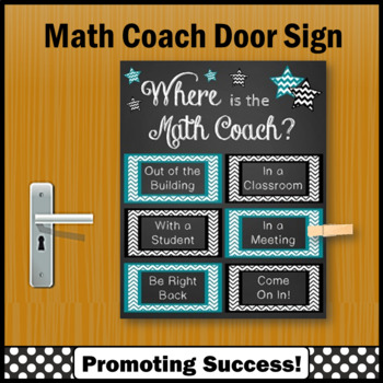 End of the Year Math Coach Poster, Printable Door Sign NOT EDITABLE