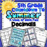 End of the Year Math: Decimal Review (5th Grade)
