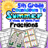End of the Year Math: Fraction Review (5th Grade)
