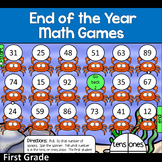 End of the Year Activites: Math Games (Color and B&W)