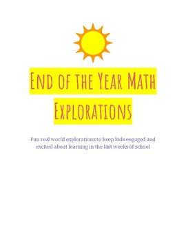 4th Grade End of the Year Outdoor Math Games and Activities