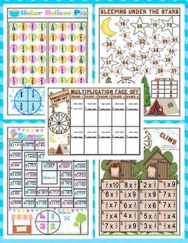 End of the Year Math Games: 4th Grade Print and Play Math Games