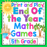 5th Grade End of the Year Math Games: 5th Grade Math Review