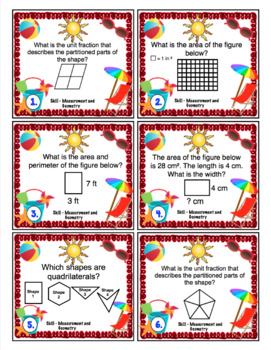 End of the Year Math:  Geometry and Measurement Review (3rd Grade)