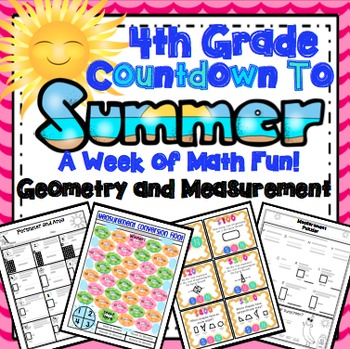 End of the Year Math: Geometry and Measurement Review (4th Grade)
