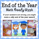 End of the Year Math Goofy Glyph 2nd grade Distance Learning