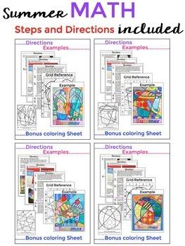 Summer Packet - Summer Math Fact Poster BUNDLE