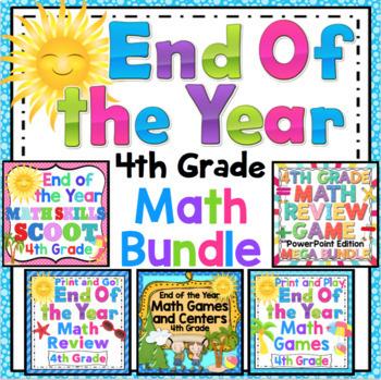 End of the Year Math Mega Bundle: 4th Grade