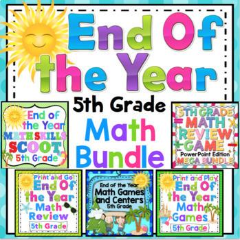 End of the Year Math Mega Bundle: 5th Grade
