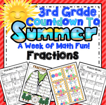 End of the Year Math:  Fraction Review (3rd Grade)