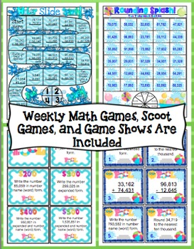 End of the Year Math: Place Value, Addition, and Subtraction Review (4th Grade)