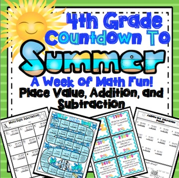 End of the Year Math: Place Value, Addition, and Subtracti
