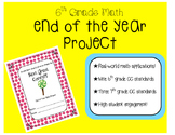 End of the Year Math Project