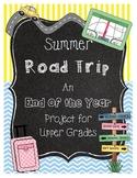 End of the Year Math Project Based Learning Road Trip *San Bernardino Custom