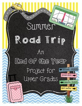 End of the Year Math Project- Road Trip *Houston*