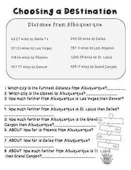 End of the Year Math Project for Upper Grades *Albuquerque*Per Request