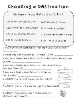 End of the Year Math Project for Upper Grades *Galveston Custom Order