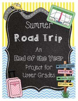 End of the Year Math Project for Upper Grades *Louisville* Road Trip