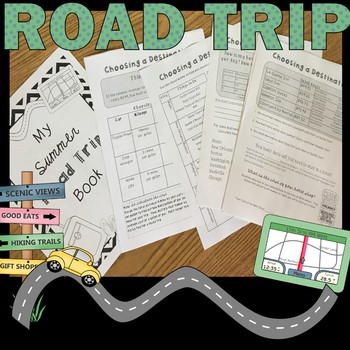 End of the Year Math Project for Upper Grades *Road Trip* Atlanta Version