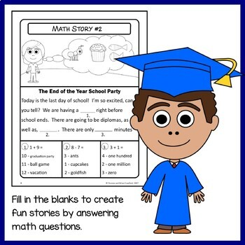 End of the Year Math Puzzles - 1st Grade Common Core