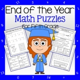 End of the Year Math Puzzles - 5th Grade Common Core Distance Learning