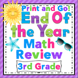 3rd Grade End of the Year Math Review: 3rd Grade Print and