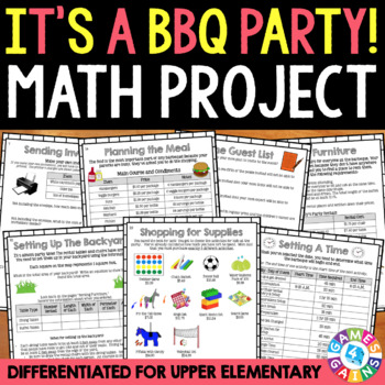 Upper Elementary End of the Year Math Project {BBQ Party Summer Packet}